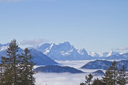 inversion: Inversion location - overlooking the sea of  clouds