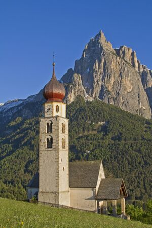 The idyllic little church of St. Valentine in South Tyrol Stock Photo - 13865540