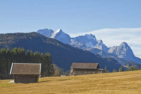 hay hut landscape in Upper Bavaria photo