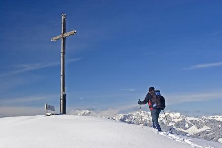 Montée au sommet Banque d'images - 14124154