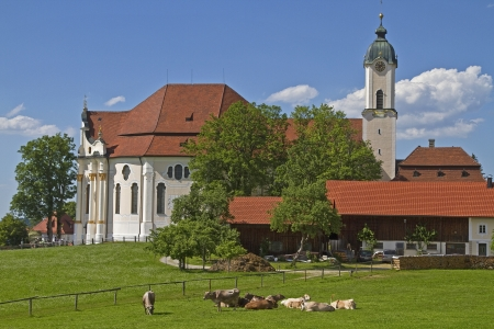 balthasar: Wies Church - Rococo jewel and tourist attraction in southern Bavaria in Pfaffenwinkel