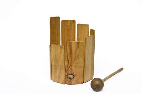 the tenor: Wooden tenor drum