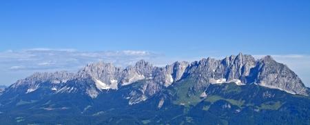kaiser: View of the Wilder Kaiser mountains