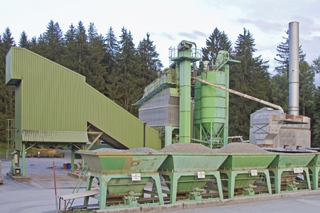 degrading: Gravel - Gravel industrial plant and warehouse storage