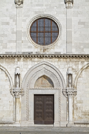 assumption:  Detail of the Cathedral of the Assumption  in Koper Stock Photo