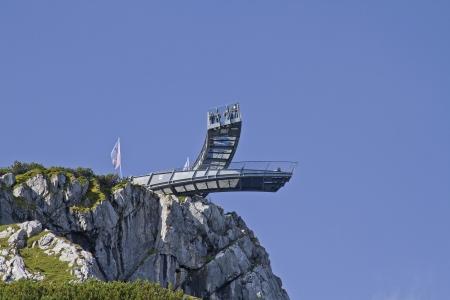 Alpspix - observation deck on the mountain Alpspitze Reklamní fotografie