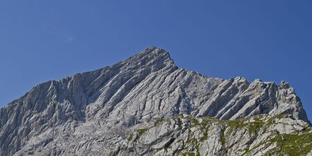 Summit of the Alpine peaks Banco de Imagens