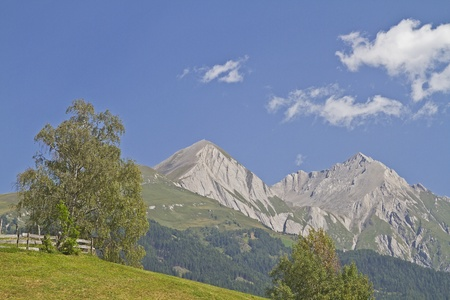 matrei: View to the mighty peaks of Granatspitz group