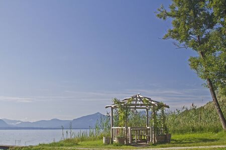 Garden pavilion on the shores of Lake Chiemsee