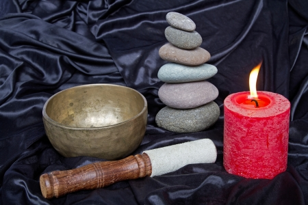 Important meditation utensils photo