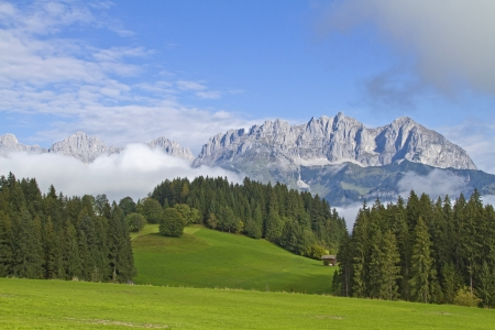 Views of the Wilder Kaiser in Tirol