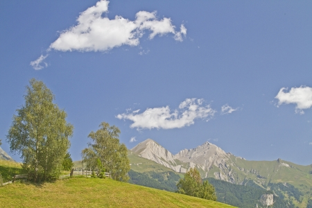 matrei: Look to the mighty peaks of Granatspitz group Stock Photo