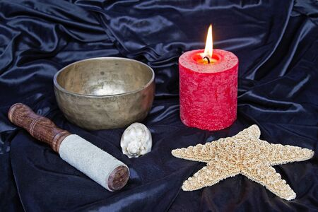 Important meditation utensils Stock Photo - 15475792