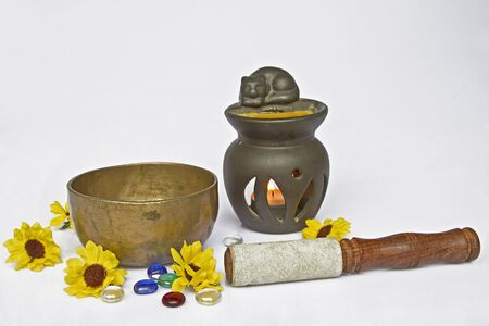 Important meditation utensils Stock Photo - 15540782