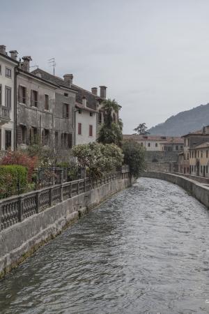 veneto: river Meschio in Vittorio Veneto