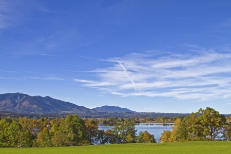 autumn at lake Staffelsee photo
