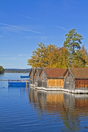 boatshouses at lake Staffel photo