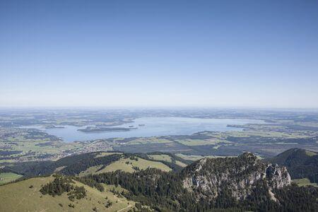 perceptive: lago Chiemsee in Alta Baviera Archivio Fotografico