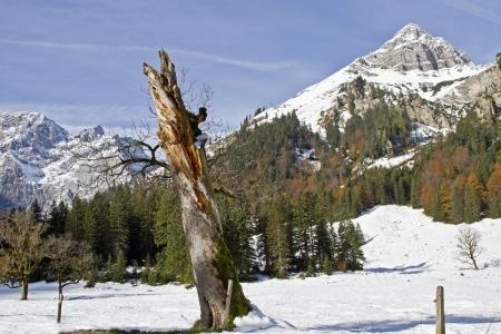 earlier: Earlier winter in Tyrol Stock Photo