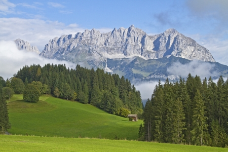 View of the Wilder Kaiser in Tyrol