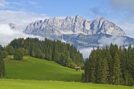 Vue sur le Wilder Kaiser au Tyrol Banque d'images - 16297751