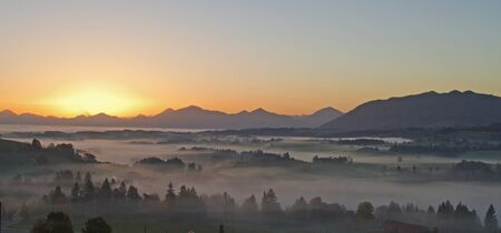 fog banks in the bavarian foothills Stock Photo - 16420478