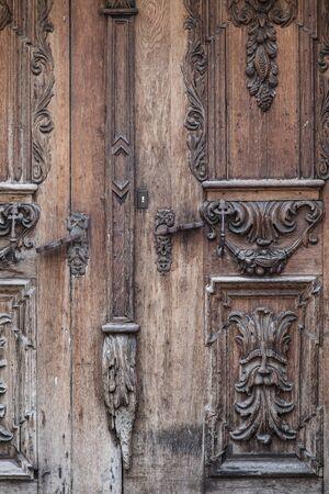landshut: House detail - Old door in Landshut