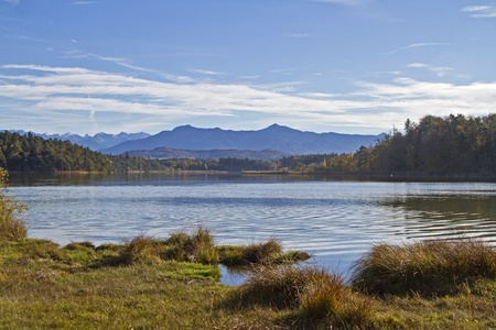 Lake Ostersee - much visited protected area in Upper Bavaria Stock Photo - 16646954