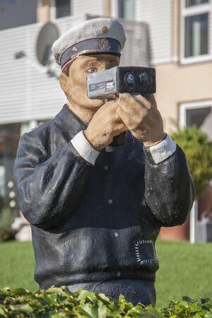 constable: constable doll and radar trap Stock Photo