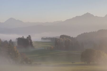 fog banks in the bavarian foothills Stock Photo - 16689822