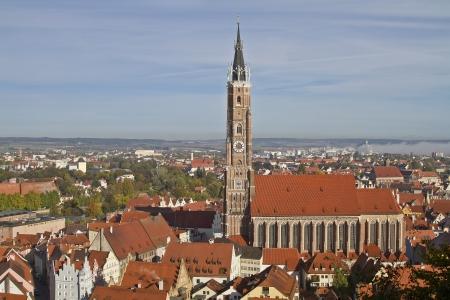 landshut: Landshut  and the Saint Martins church