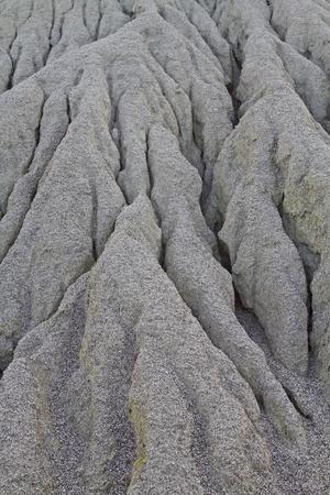 weathering: Gravel or sandy dunes of gullies crossed