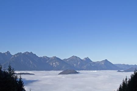 fog banks in the bavarian foothills