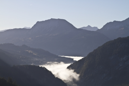 Inversion situation in Tannheim valley