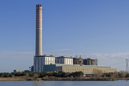 pila: Controversial energy production in the Po Delta - the CHP in Pila, with its 250 m high tower