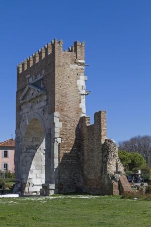 rimini: Arco di Augusto in Rimini  Editorial