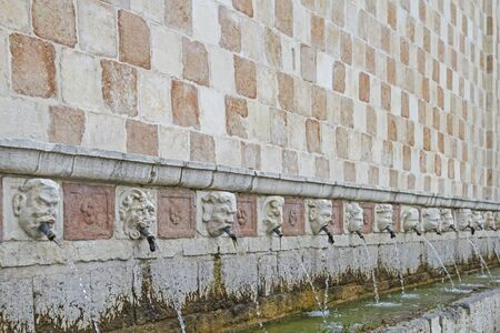 cannelle:  Fontana delle 99 Cannelle in L�Aquila  Stock Photo