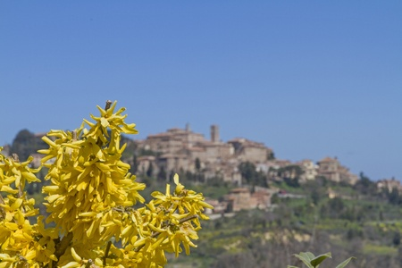 montepulciano: Montepulciano - idyllic and famous wine village in Tuscany Stock Photo
