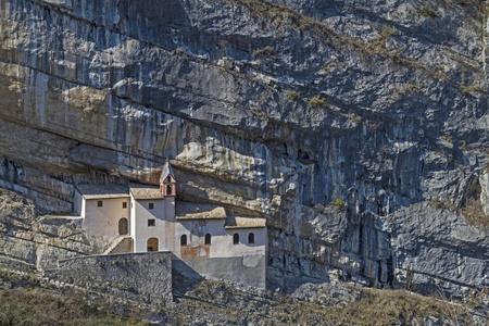 hermitage: San Colombano - Hermitage in Rovereto Stock Photo