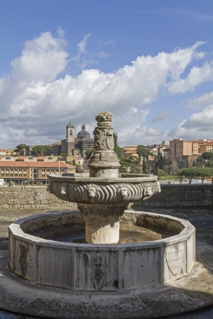 viterbo: fontana near Papal Palace in Viterbo