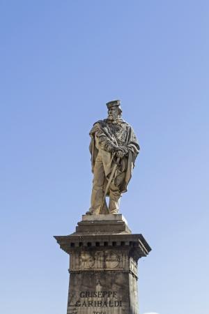 garibaldi: monument  Guiseppe Garibaldi in Todi