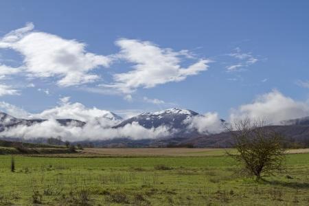 sibillini: Sibillini mountains in Marche in Italy Stock Photo