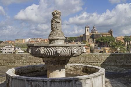 fontana: fontana near Papal Palace in Viterbo