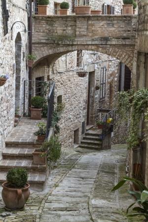 spello: Narrow lane in Spello