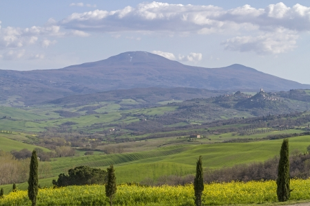 orcia: landscape in val di orcia  and Monte Amiata