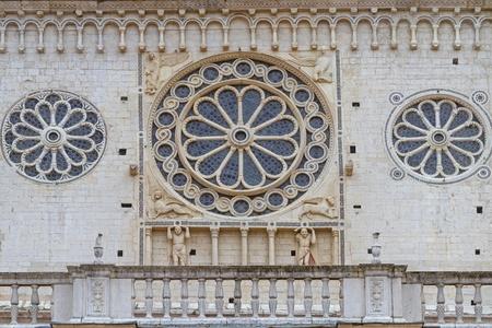 detai: detai- cathedral in Spoleto Stock Photo