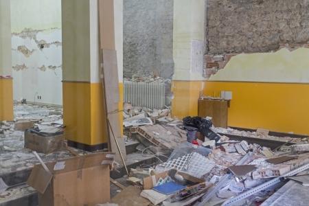 Earthquake damage in Aquila