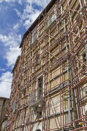 abruzzo: Earthquake damage in Abruzzo Stock Photo