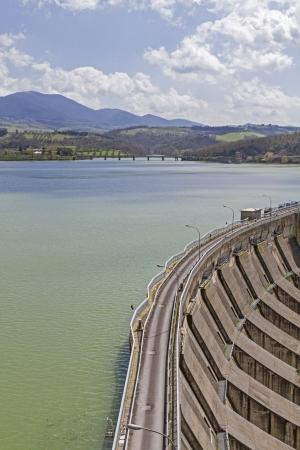 harnessing: Mighty dam  and Lago di Corbara