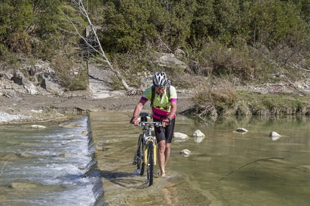 orcia: ride through the river Orcia